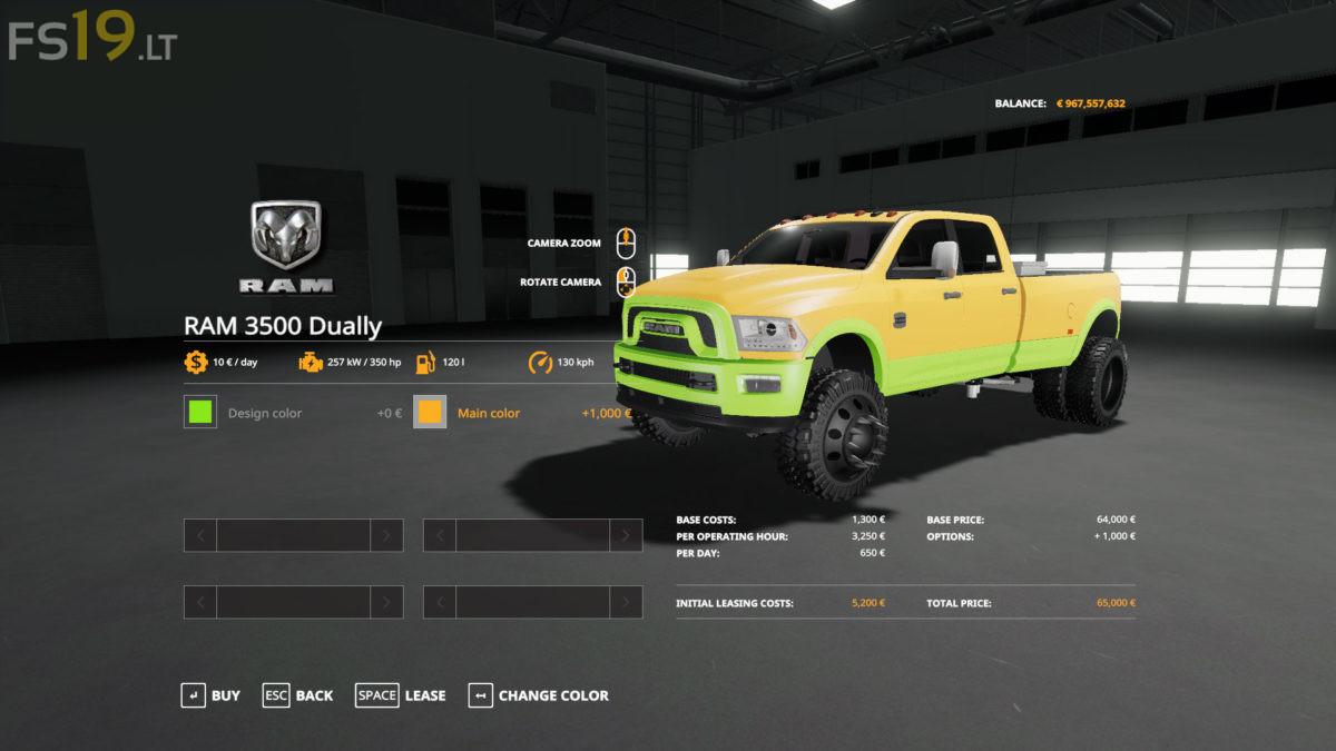 Dodge Ram 3500 V 1 0 Fs19 Mods Farming Simulator 19 Mods