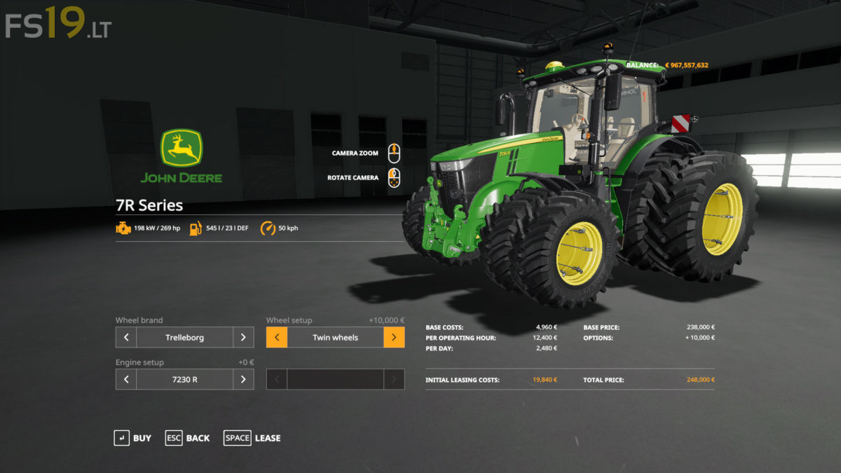 John Deere 332 >> John Deere 7R Series v 1.0 - FS19 mods / Farming Simulator 19 mods
