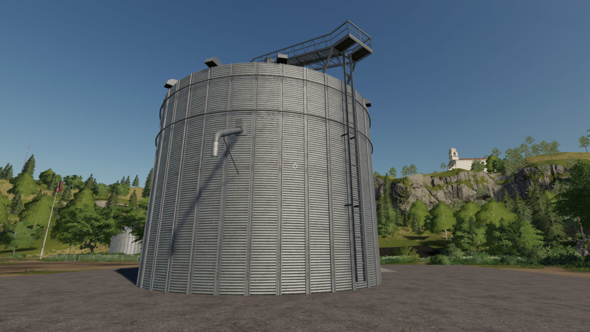 Placeable Large Grain Silo v 1 0 - FS19 mods / Farming Simulator 19 mods