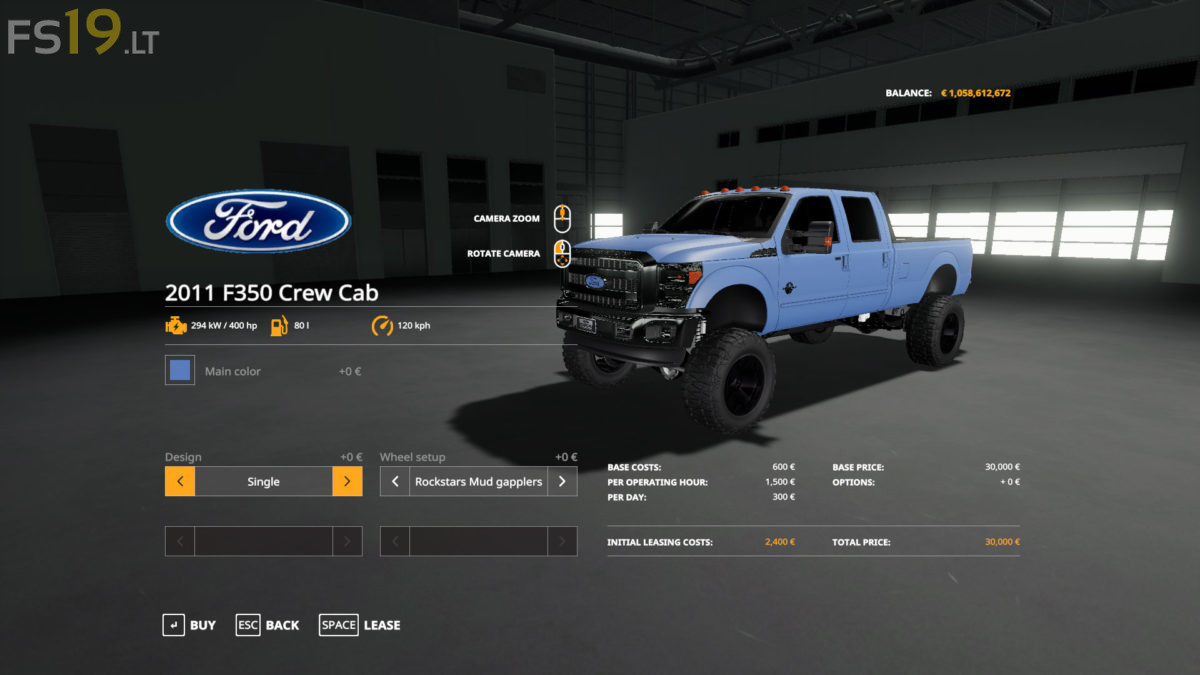 2011 Ford F-350 Crew Cab v 1 0 - FS19 mods / Farming Simulator 19 mods