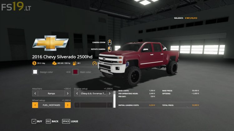 2016 Chevy 2500 HD Duramax - FS19 mods / Farming Simulator ...