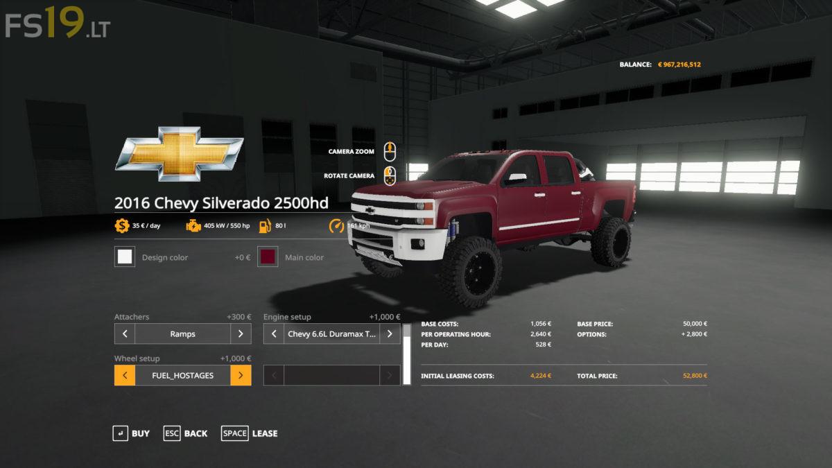 2016 Chevy 2500 HD Duramax - FS19 mods / Farming Simulator ...