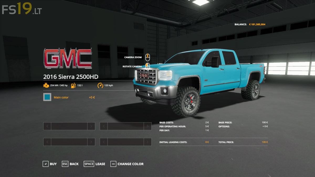 2016 GMC Sierra 2500 HD v 1.1 - FS19 mods / Farming ...