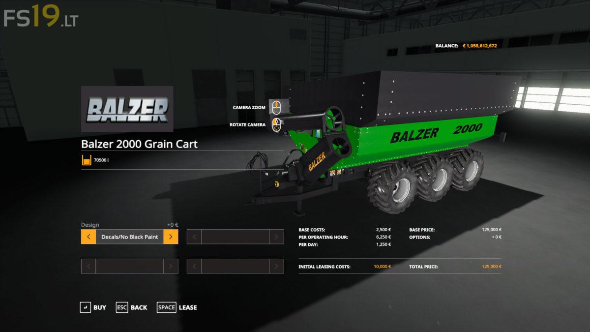 Balzer 2000 v 1 0 - FS19 mods / Farming Simulator 19 mods