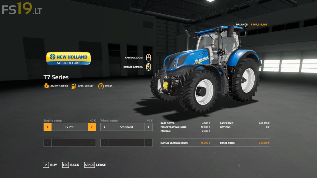 New Holland US Edition Tractors Pack v 1 0 - FS19 mods
