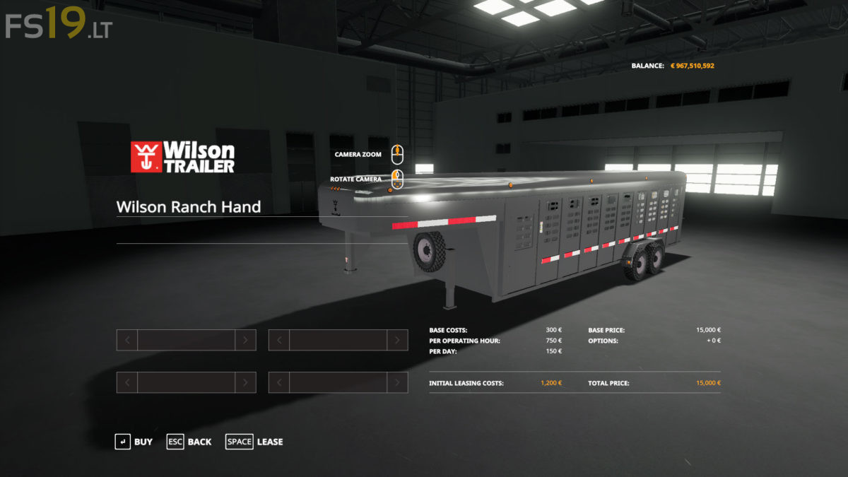 Truck Cargo Box >> Wilson Ranch Hand Animal Trailer v 1.0 - FS19 mods ...