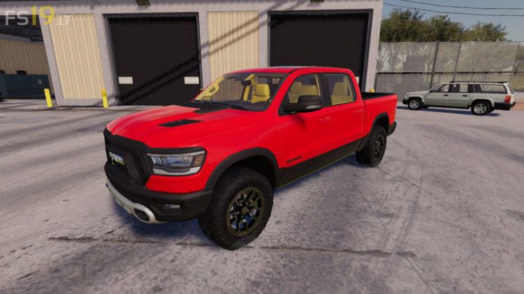 2019 dodge ram 1500 rebel v 1 0   farming simulator 19 mods