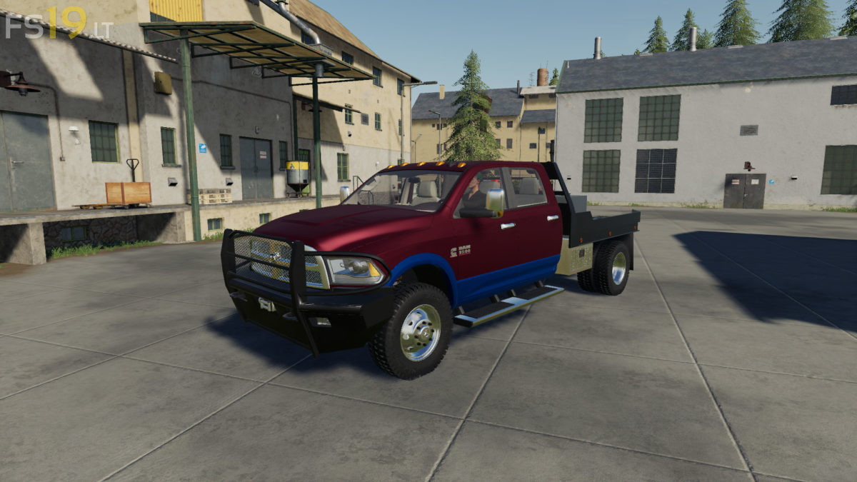 Dodge Ram 3500 Flatbed 2 Fs19 Mods Farming Simulator 19 Mods