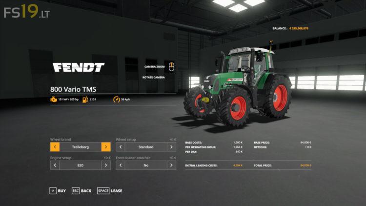 Fendt-Vario-800-TMS-3 - FS19 mods / Farming Simulator 19 mods