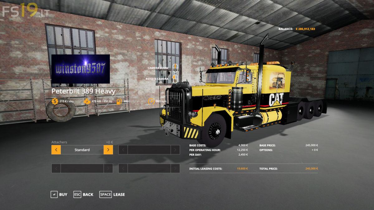 Peterbilt-389-Caterpillar-Heavy-Haul-3 - FS19 mods / Farming