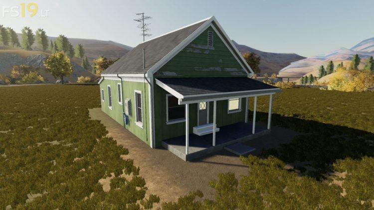 Placeable Green Farm House V 1 0 Fs19 Mods Farming