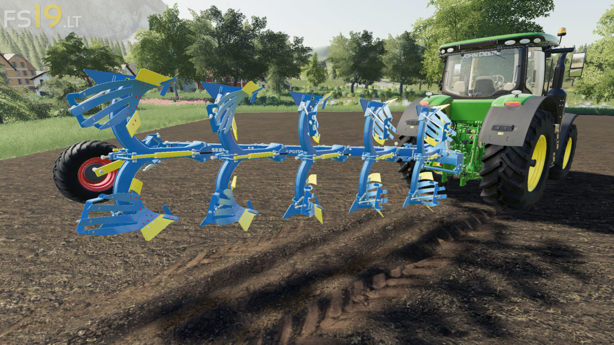 5 Furrows Rollover Plow v 1 0 - FS19 mods / Farming Simulator 19 mods