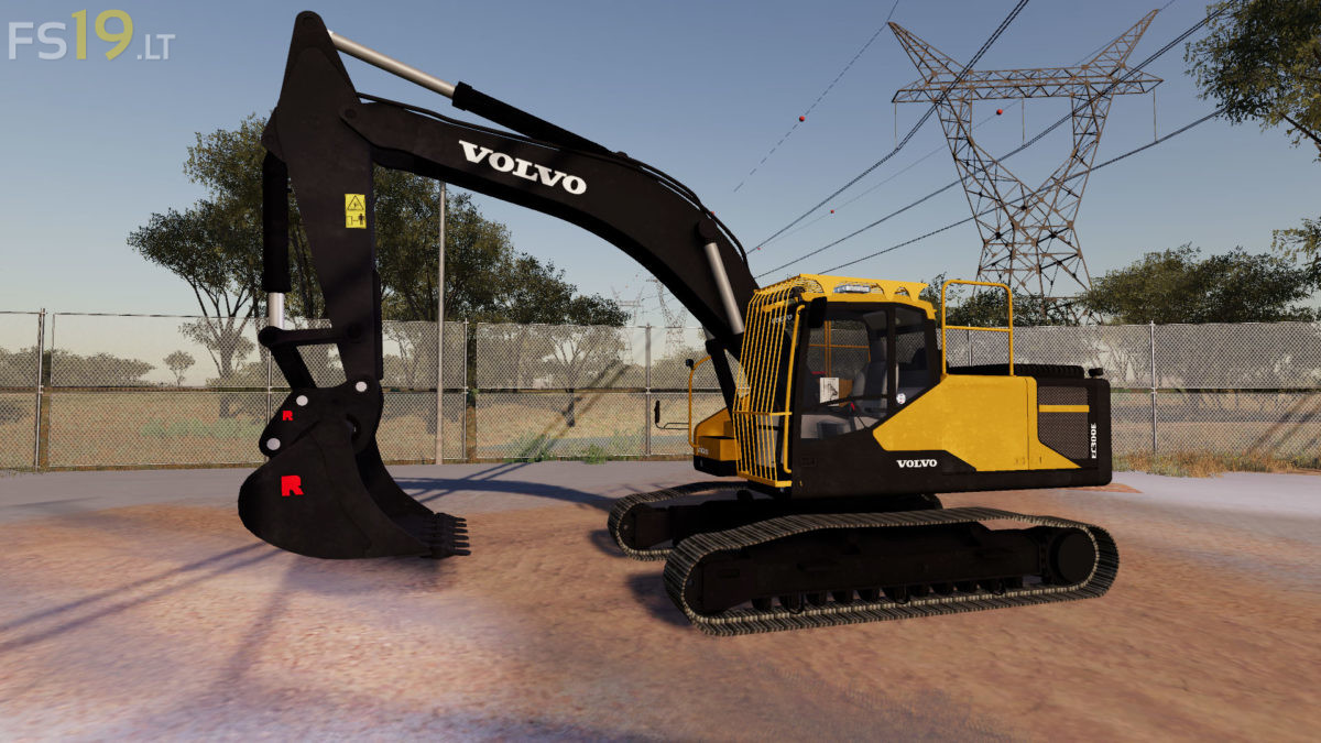 Volvo EC300E & Shovels v 1.0 - FS19 mods / Farming Simulator 19 mods