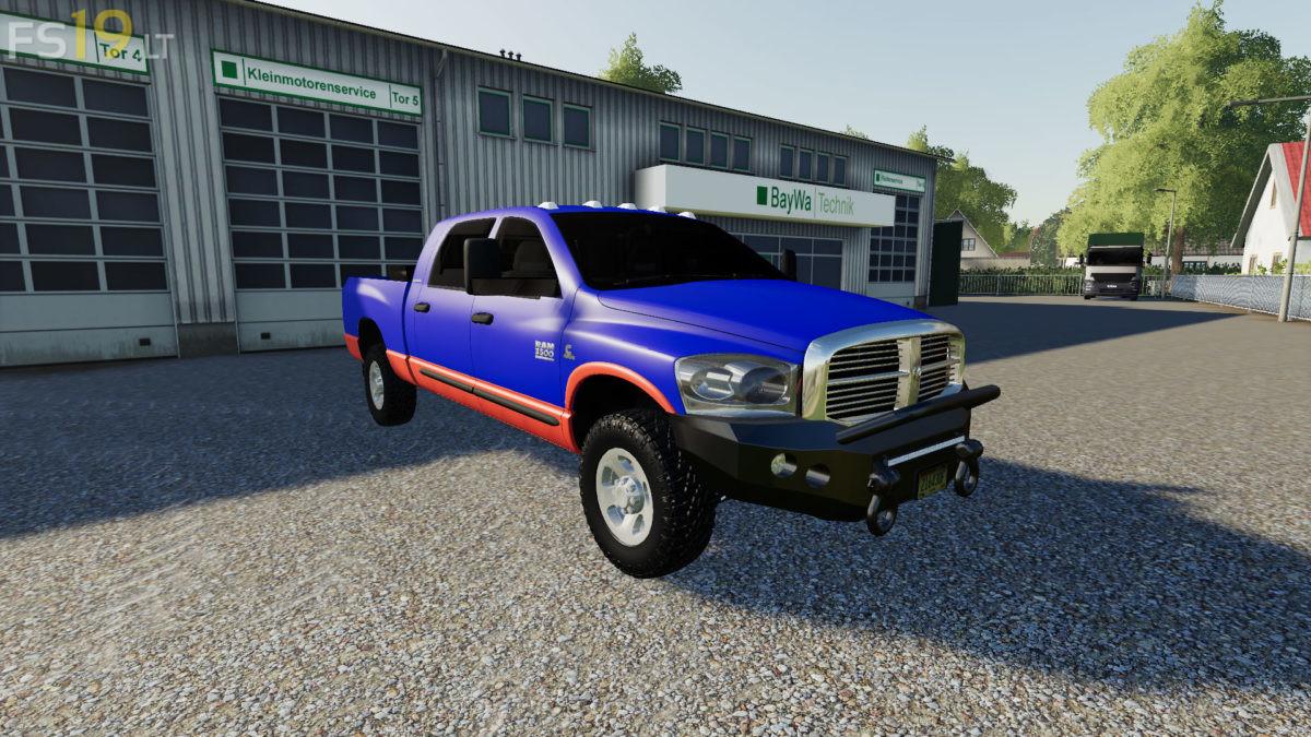 2007 Dodge Ram 3500 Mega Cab V 1 0 Fs19 Mods Farming Simulator 19 Mods