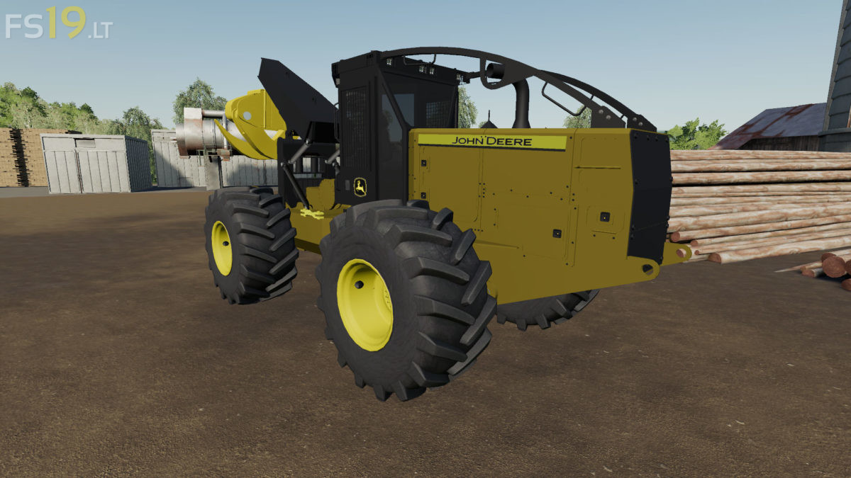 John Deere Skidder v 1 0 - FS19 mods / Farming Simulator 19 mods