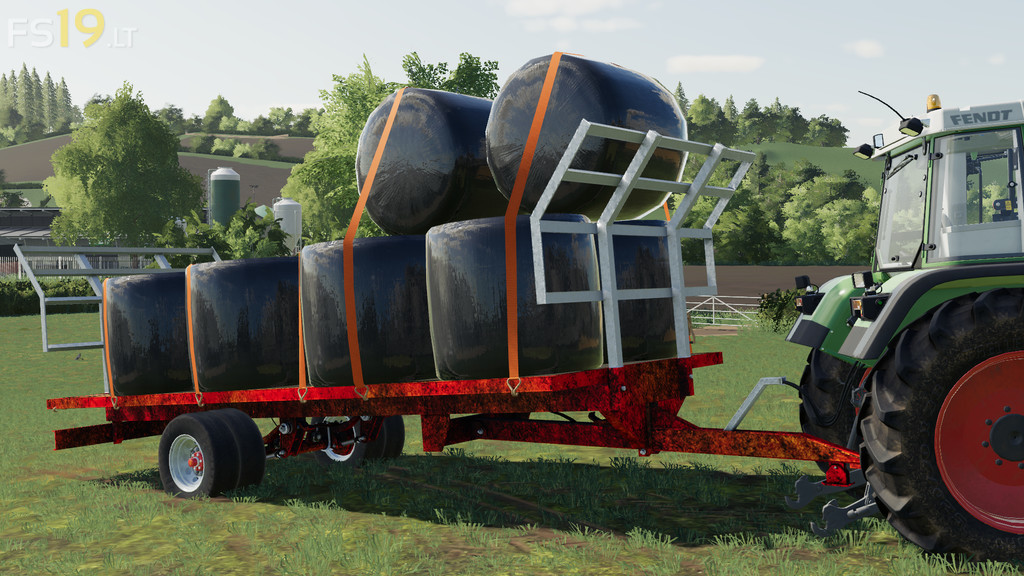 Lizard 20 Foot Bale Trailer v 1 0 - FS19 mods / Farming Simulator 19