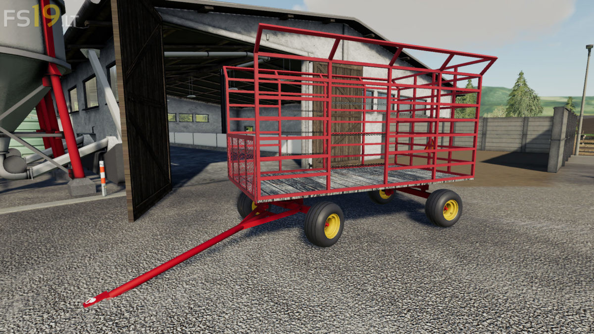 16 Bale Wagon v 1 0 - FS19 mods / Farming Simulator 19 mods