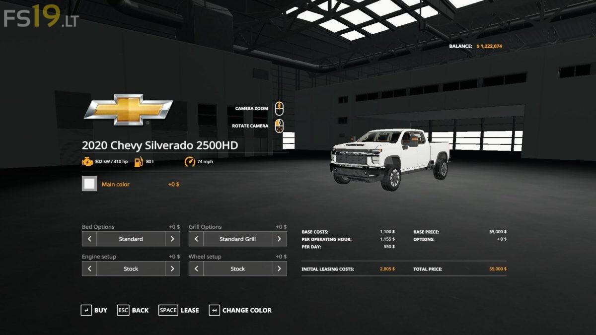 2020 Chevy Silverado 2500 HD v 1.0 - FS19 mods / Farming ...