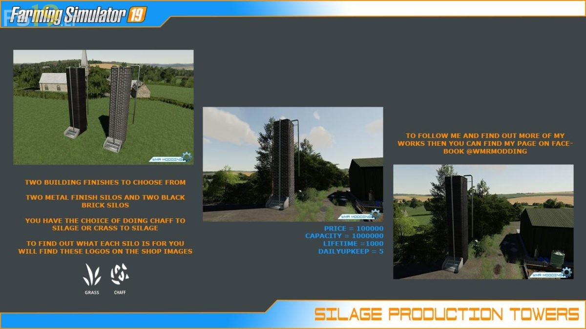 Silage Tower Fermentation Pack v 1 0 - FS19 mods / Farming