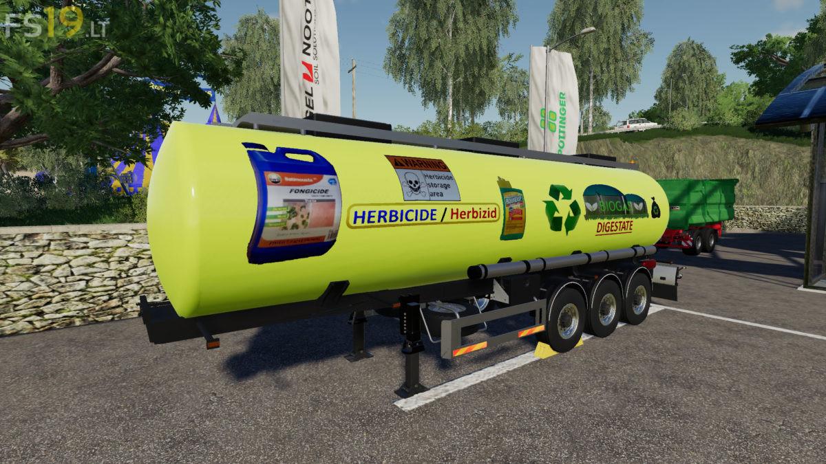 Digestate Fertilizer Trailer v 1 0 - FS19 mods / Farming Simulator