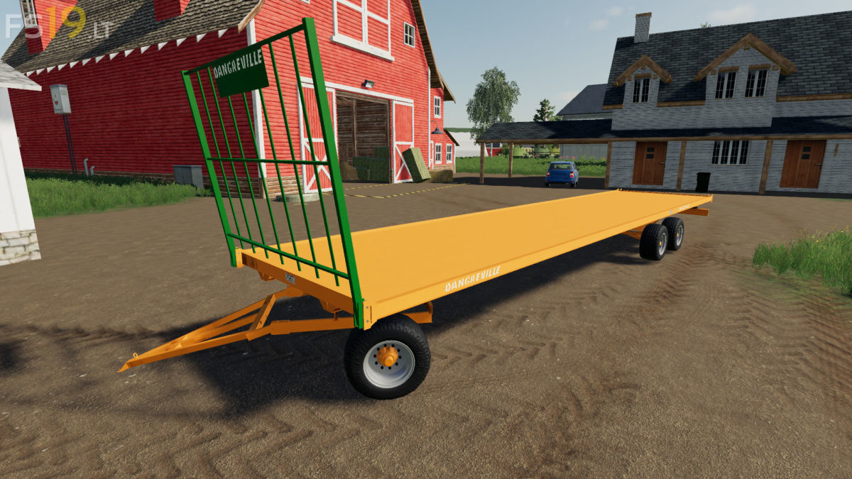 Dangreville Bale Trailer v 1 0 - FS19 mods / Farming Simulator 19 mods