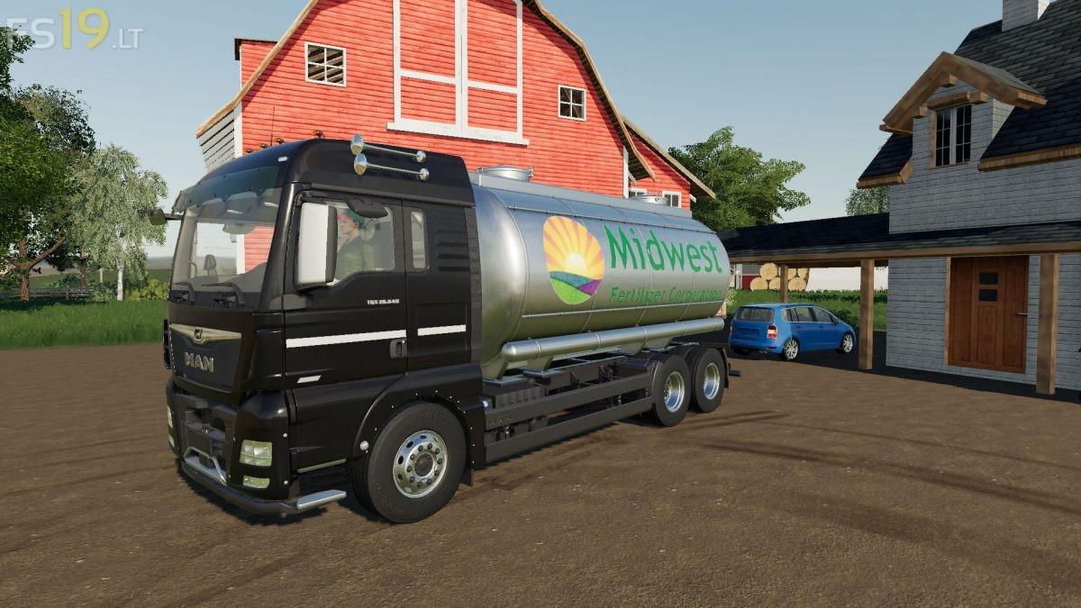 Man Tgx Tanker Truck V 1 0 Fs19 Mods Farming Simulator