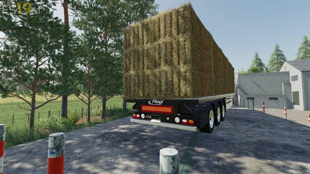 Fliegl Flatbed Semitrailer v 1 1 - FS19 mods / Farming